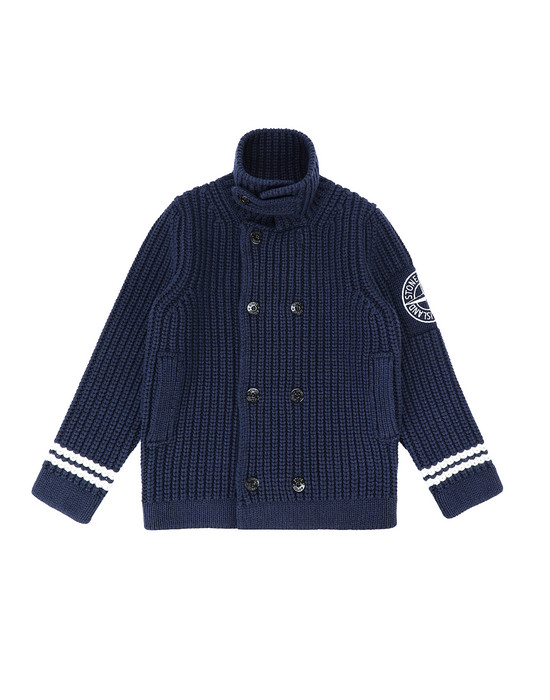 STONE ISLAND JUNIOR 517D1 Sweater Man Blue