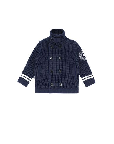 STONE ISLAND KIDS 517D1 Sweater Man Blue USD 334