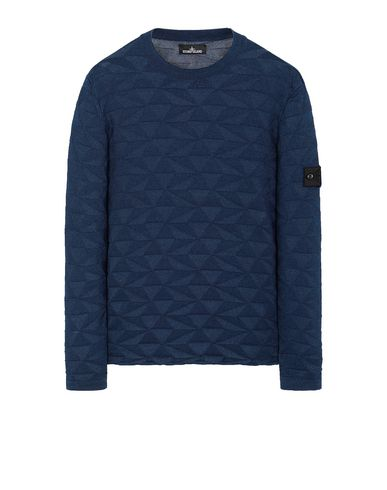 STONE ISLAND SHADOW PROJECT 502I5 GRAPHIC KNIT Maglia Uomo Blu scuro EUR 232