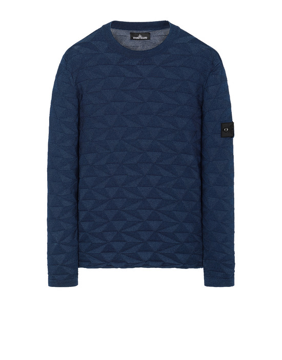 STONE ISLAND SHADOW PROJECT 502I5 GRAPHIC KNIT Sweater Man Dark blue