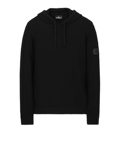 STONE ISLAND SHADOW PROJECT 511A5 RIBBED HOODIE Sweater Man Black USD 663