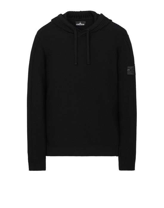 STONE ISLAND SHADOW PROJECT 511A5 RIBBED HOODIE セーター メンズ ブラック