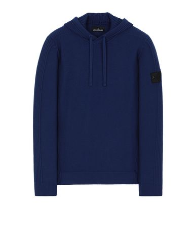 STONE ISLAND SHADOW PROJECT 511A5 RIBBED HOODIE Sweater Man Indigo EUR 363