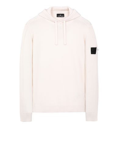 STONE ISLAND SHADOW PROJECT 511A5 RIBBED HOODIE Sweater Man Ivory EUR 363