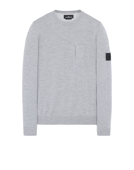 STONE ISLAND SHADOW PROJECT 505A4 CATCH POCKET CREWNECK 针织衫 男士 灰色