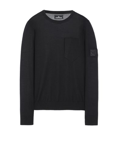 STONE ISLAND SHADOW PROJECT 505A4 CATCH POCKET CREWNECK Sweater Man Black USD 509