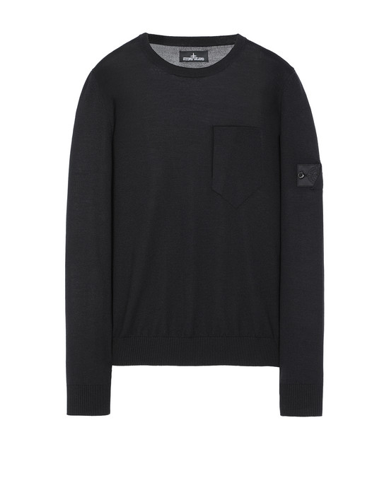 STONE ISLAND SHADOW PROJECT 505A4 CATCH POCKET CREWNECK セーター メンズ ブラック