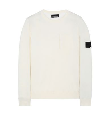 STONE ISLAND SHADOW PROJECT 505A4 CATCH POCKET CREWNECK Maglia Uomo Bianco Naturale EUR 257