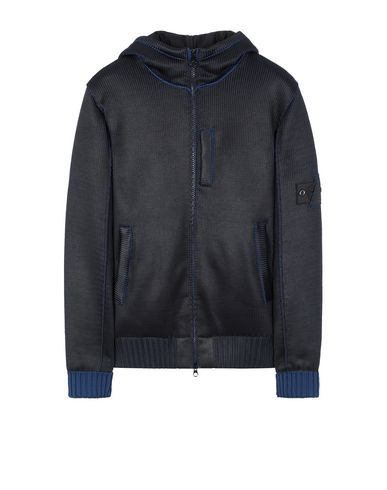 STONE ISLAND SHADOW PROJECT 508A6 INSULATED KNIT JACKET  Sweater Man Dark blue EUR 1135