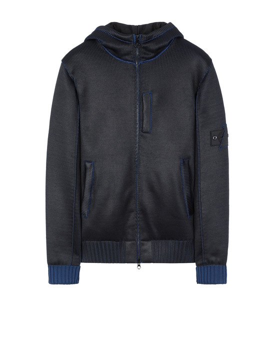 STONE ISLAND SHADOW PROJECT 508A6 INSULATED KNIT JACKET  Tricot Homme Bleu foncé