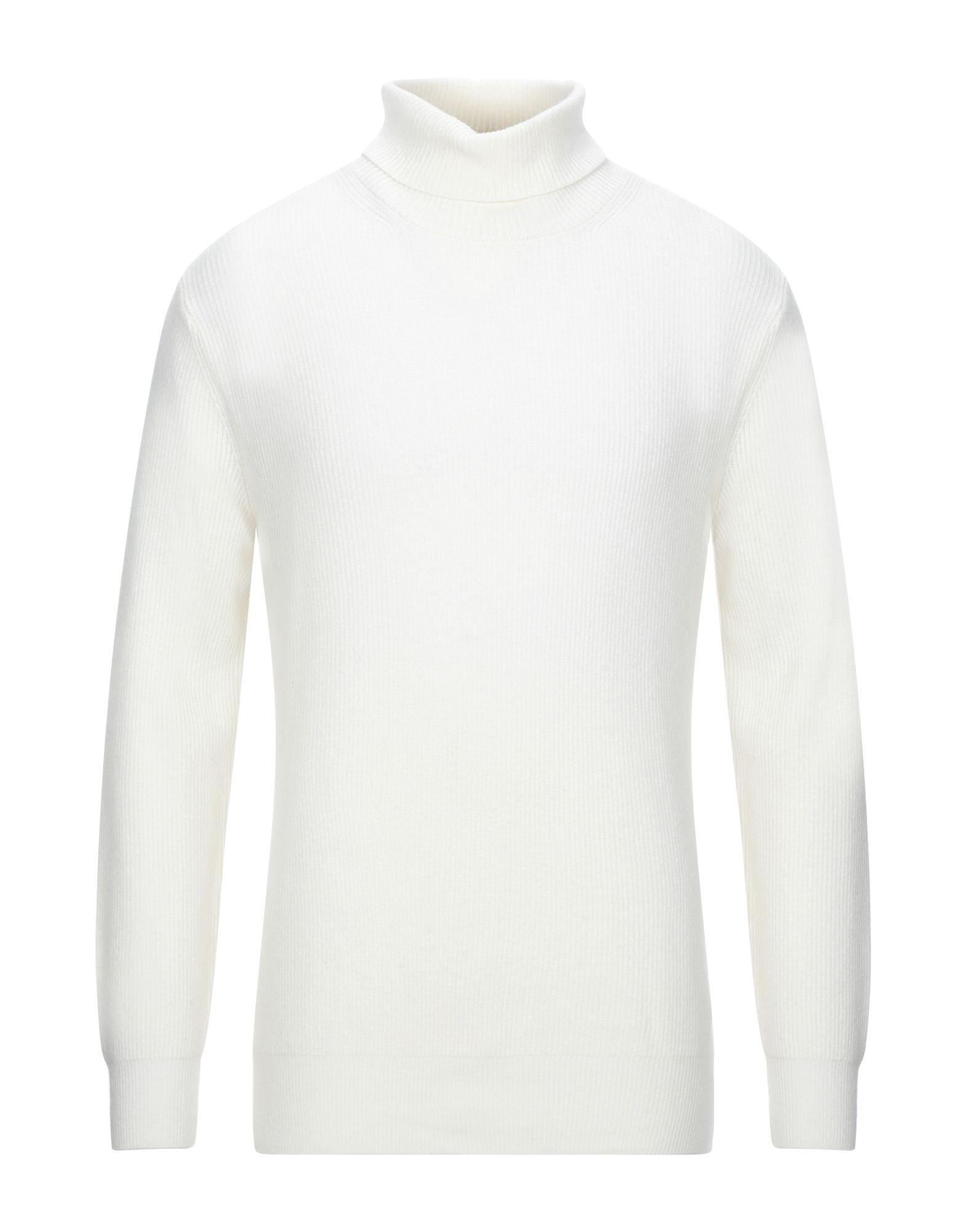 《セール開催中》AVON CELLI 1922 メンズ タートルネック ホワイト 52 バージンウール 40% / レーヨン 30% / ナイロン 20% / カシミヤ 10%