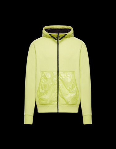HOODED CARDIGAN Yellow Sweatshirts Man