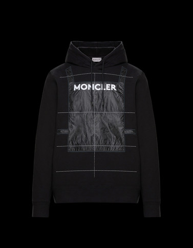 HOODED JUMPER Black 5 Moncler Craig Green Man