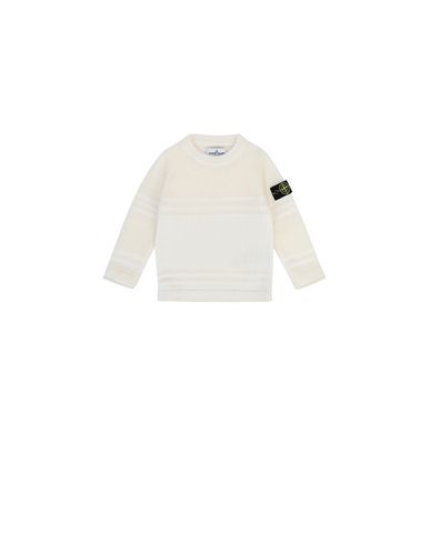 STONE ISLAND BABY 512A5 Sweater Man Natural White EUR 148
