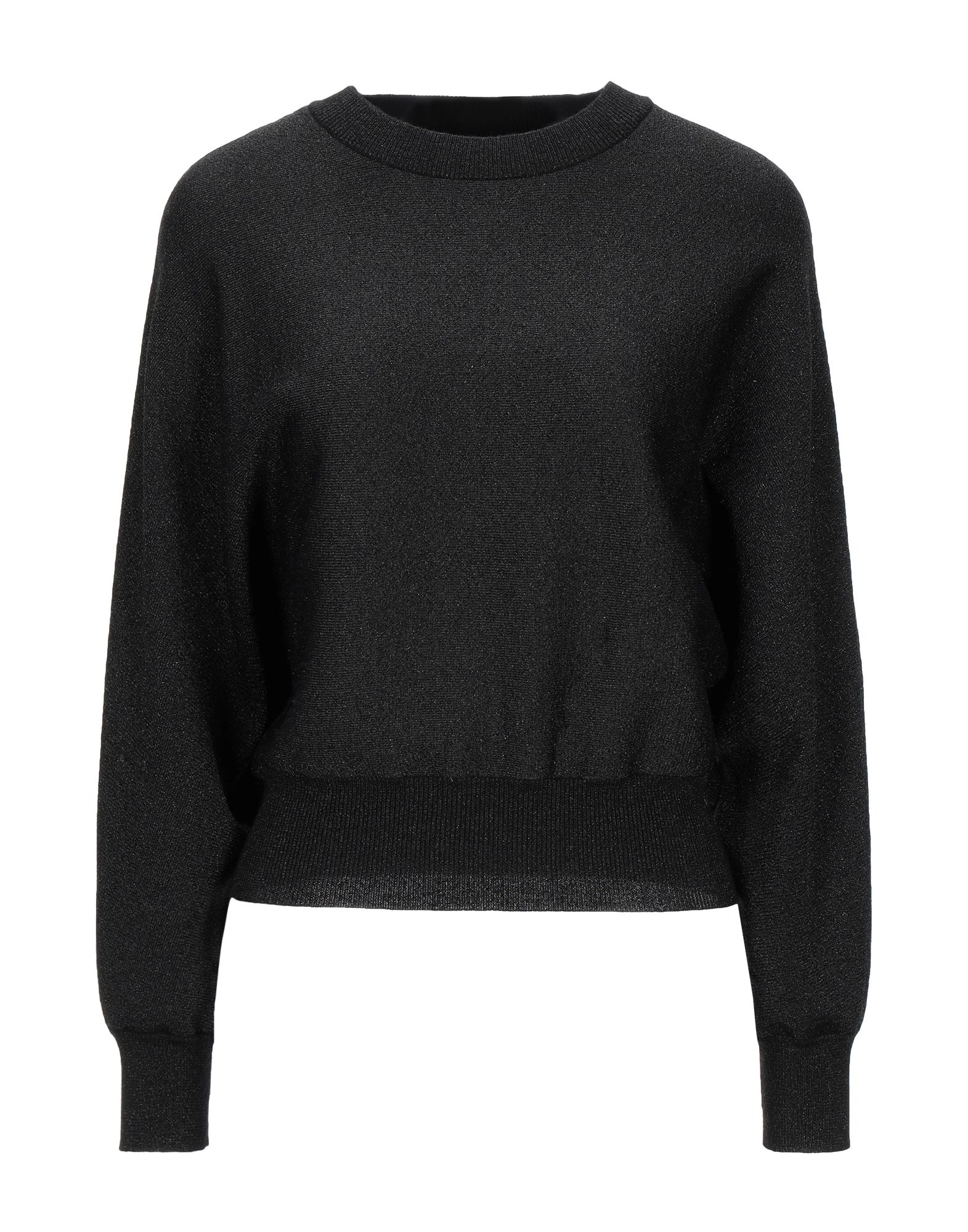ALICE + OLIVIA Sweaters. knitted, lamé, no appliqués, lightweight knit, round collar, solid color, long sleeves, no pockets, stretch. 49% Wool, 32% Polyester, 16% Nylon, 3% Elastane