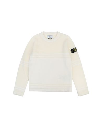 STONE ISLAND JUNIOR 512A5 Sweater Man Natural White EUR 136
