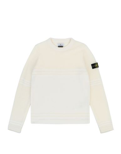 STONE ISLAND TEEN 512A5 Sweater Man Natural White EUR 192
