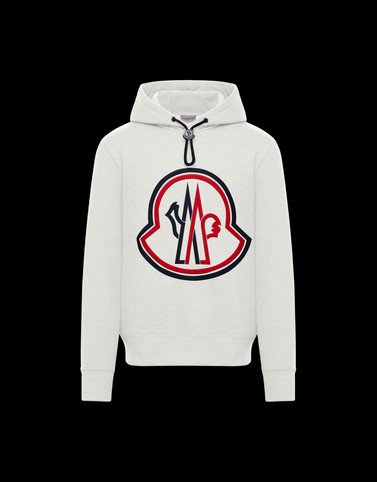 HOODED JUMPER White Sweatshirts Man