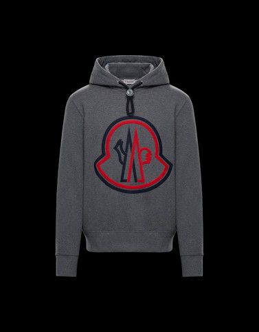 HOODED SWEATER Grey Sweatshirts Man