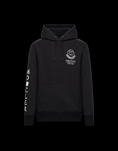 HOODED JUMPER Black 2 Moncler 1952 Man