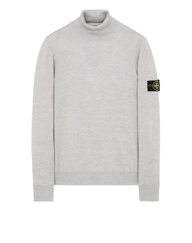 STONE ISLAND 528C4 Sweater Man Pearl Gray USD 335