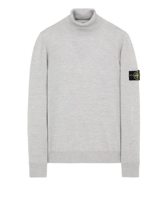 STONE ISLAND 528C4 Sweater Man Pearl Gray