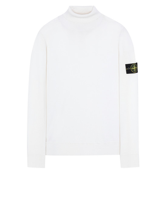 STONE ISLAND 528C4 Sweater Man Natural White