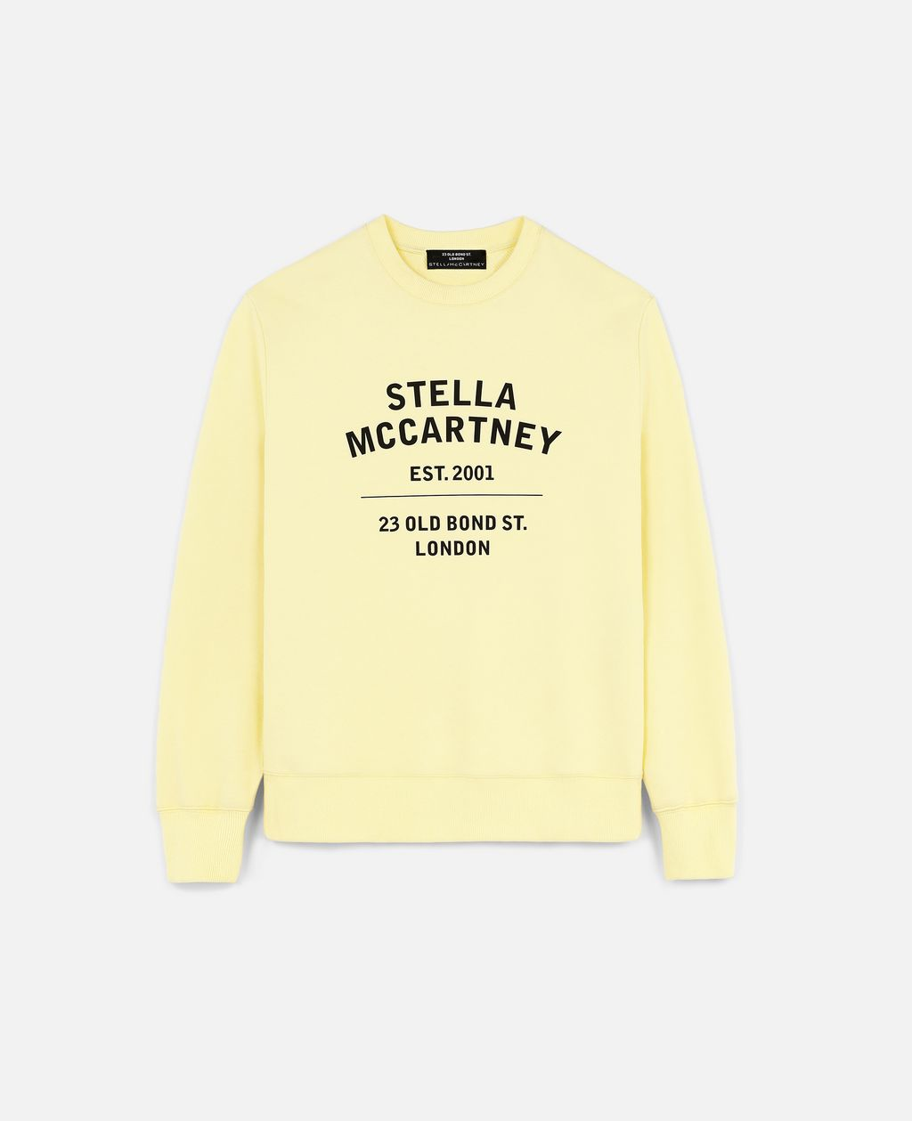 Stella Mccartney Cottons STELLA MCCARTNEY YELLOW 23 OBS ORGANIC COTTON SWEATSHIRT