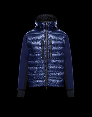 PADDED CARDIGAN Blue Grenoble Knitwear Man