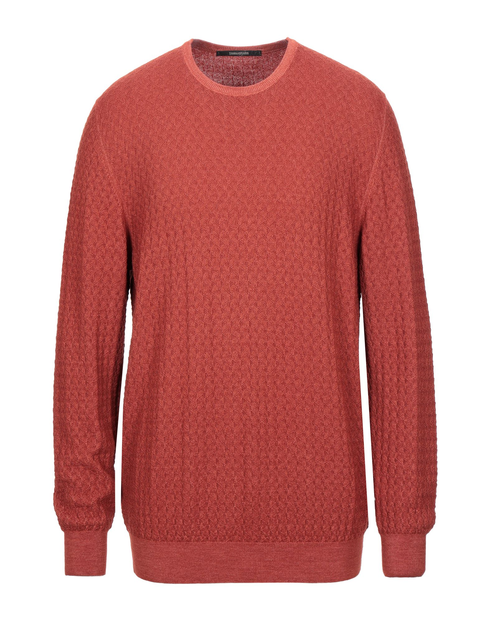 TAGLIATORE Sweaters. knitted, no appliqués, lightweight knit, round collar, basic solid color, long sleeves, no pockets. 100% Virgin Wool