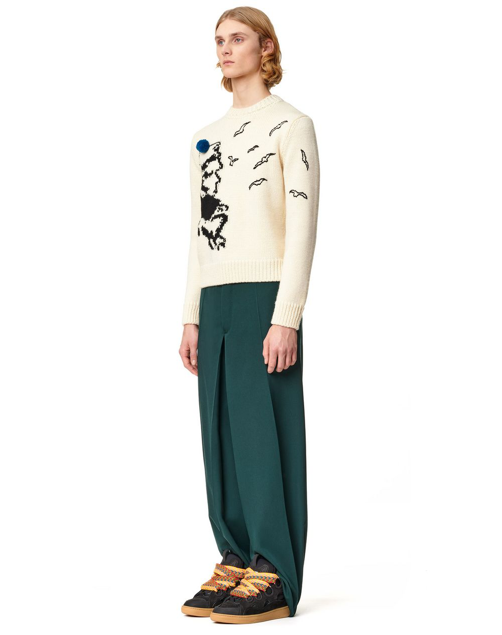 INTARSIA KNITTED SWEATER - Lanvin