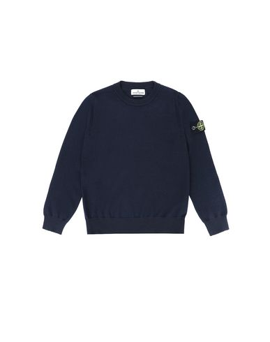 STONE ISLAND JUNIOR 501A4 Sweater Man Blue USD 224