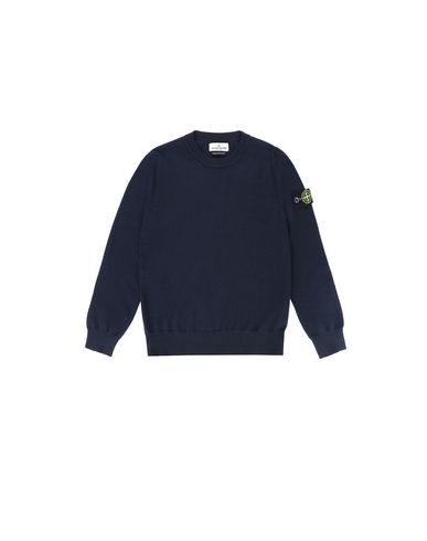 STONE ISLAND KIDS 501A4 Sweater Man Blue USD 203