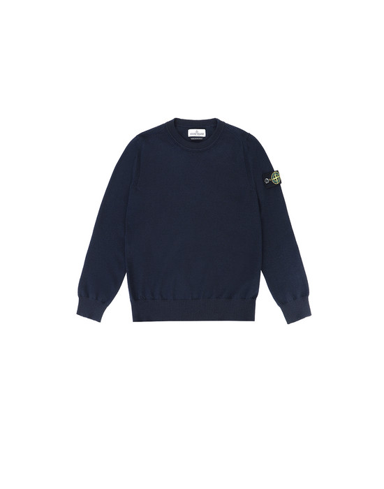 STONE ISLAND KIDS 501A4 Sweater Man Blue