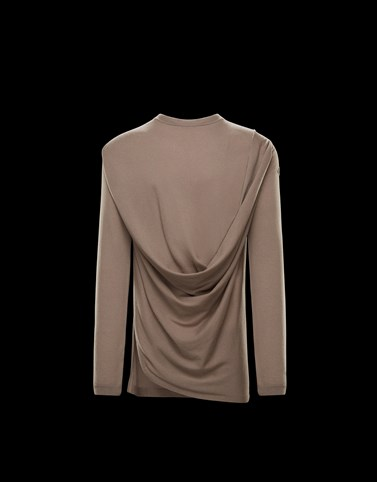 CREWNECK Light grey Moncler Rick Owens Woman