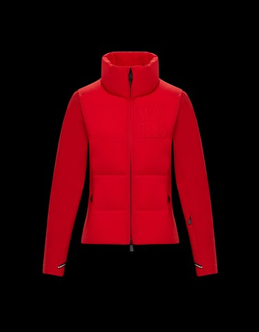 PADDED CARDIGAN Red Category PADDED CARDIGANS Woman