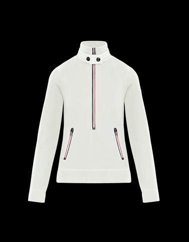 ZIPPED MOCK POLO NECK Ivory Sweatshirts & midlayers Woman