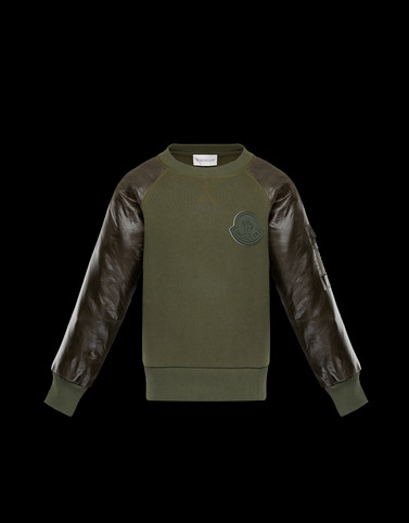 CREWNECK SWEATSHIRT Military green Category Crewnecks Man