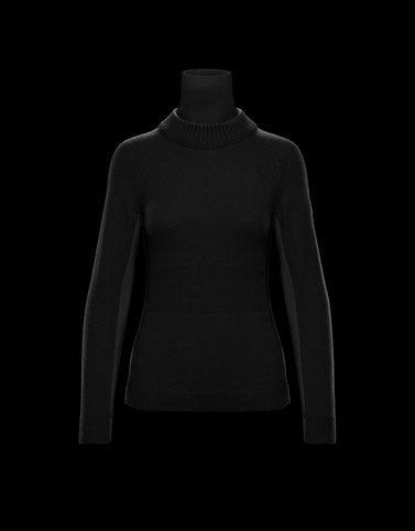 Turtleneck Black Grenoble Knitwear Woman