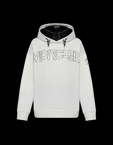 HOODED JUMPER White Sweatshirts & midlayers Woman
