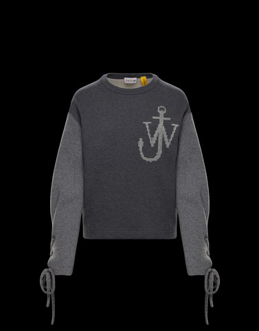 CREWNECK SWEATSHIRT Dark grey 1 Moncler JW Anderson Woman