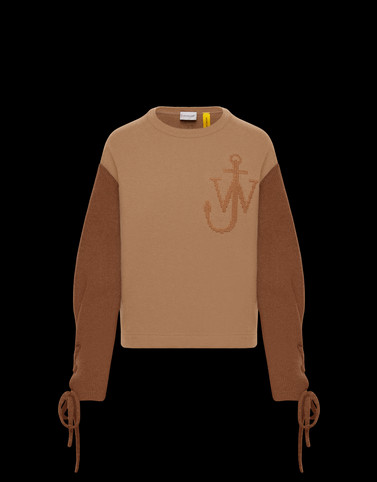 CREWNECK SWEATSHIRT Camel New in Woman
