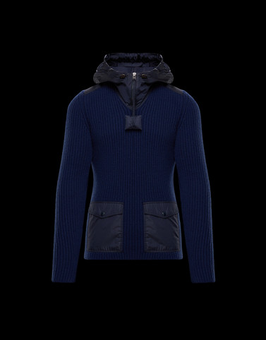 HOODED JUMPER Blue 1 Moncler JW Anderson Woman