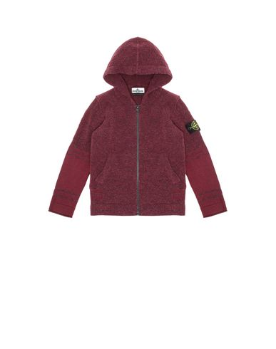 STONE ISLAND KIDS 518A5 Sweater Man Dark Burgundy USD 139