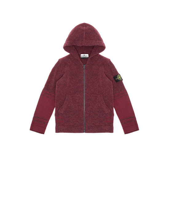 STONE ISLAND JUNIOR 518A5 Sweater Man Dark Burgundy