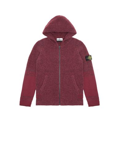 STONE ISLAND JUNIOR 518A5 Sweater Man Dark Burgundy EUR 226
