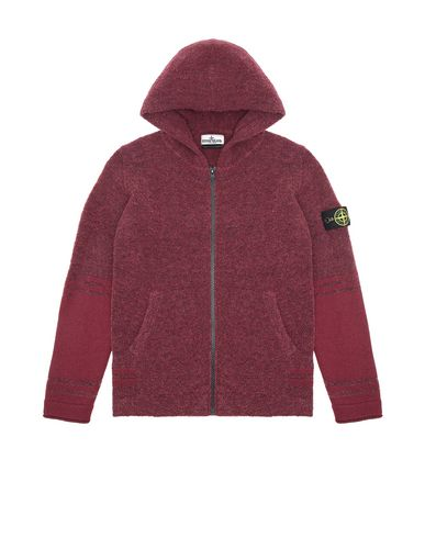 STONE ISLAND TEEN 518A5 Sweater Man Dark Burgundy EUR 252