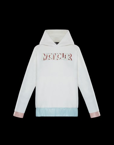 HOODED JUMPER White Category HOODED SWEATSHIRTS Woman
