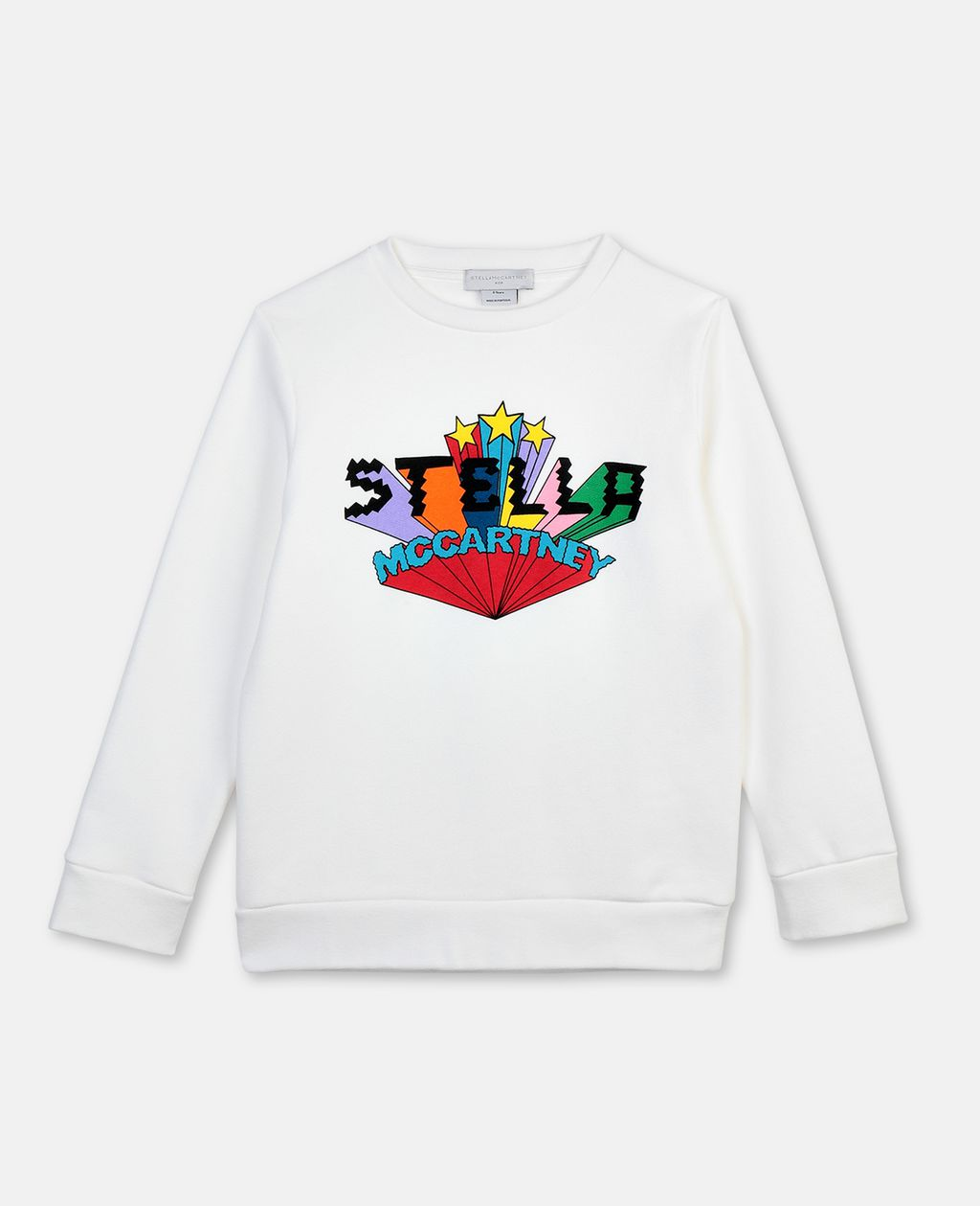 Stella Mccartney STELLA MCCARTNEY KIDS WHITE LOGO COTTON SWEATSHIRT