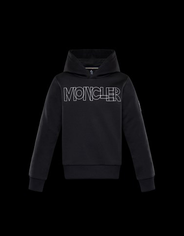HOODED JUMPER Black Grenoble_junior-8-10-years-boy Man
